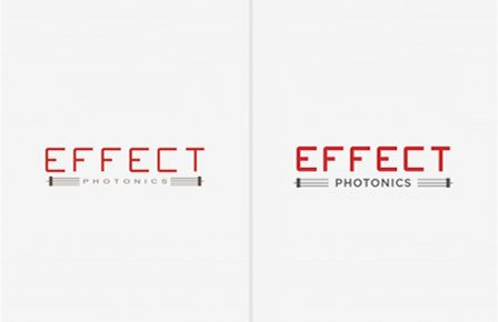 Comparison of the old & new effect photonics logo