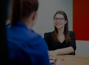Woman during the interview process for internships at effect